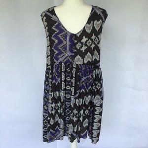 Free People Aztec Purple Print Sleeveless Dress